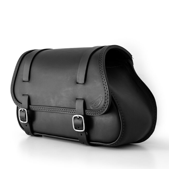 motorcycle leather saddle bag for harley davidson softail - ends cuoio fat folk ctn