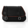 motorcycle leather saddlebag for harley davidson softail - ends cuoio fat folk cta