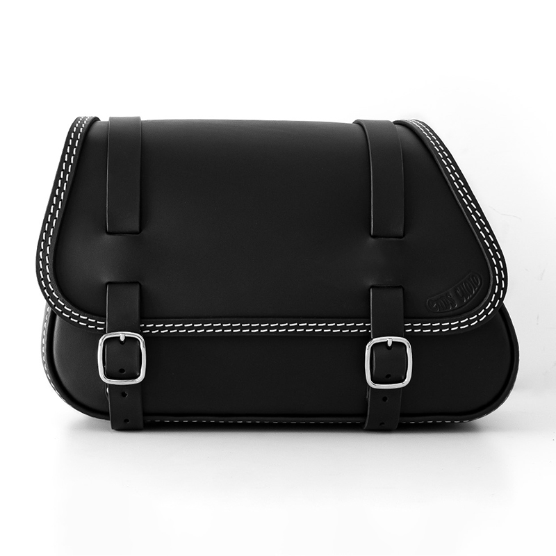 motorcycle leather saddlebag for harley davidson softail - ends cuoio fat folk ctbi