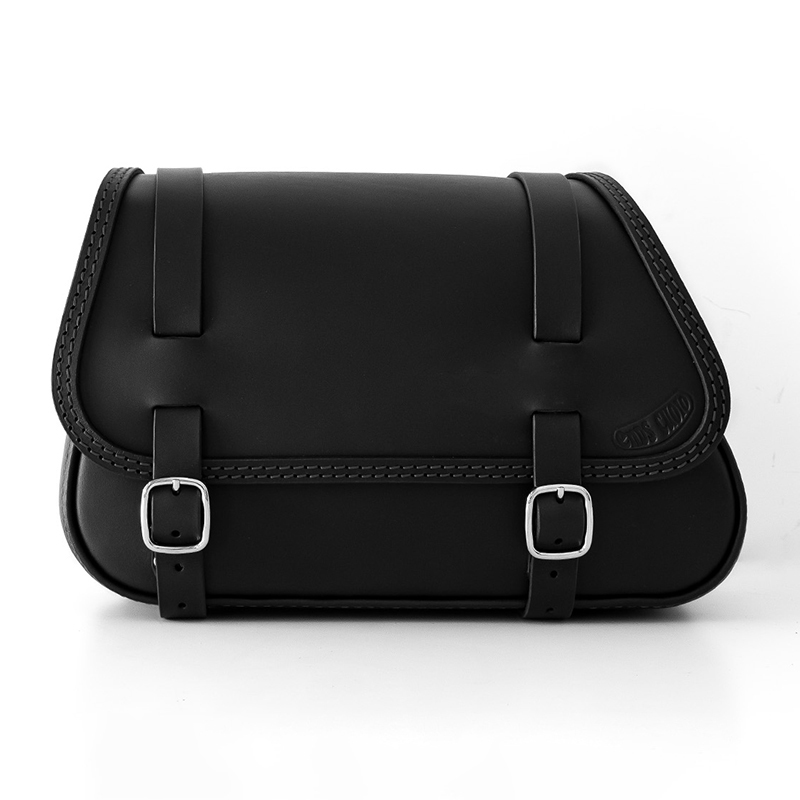 motorcycle leather saddlebag for harley davidson softail - ends cuoio fat folk ctn