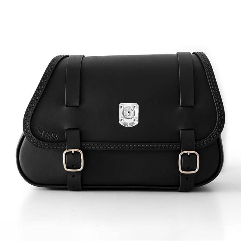 motorcycle leather saddlebag for harley davidson softail - ends cuoio fat folk dx lock ctn