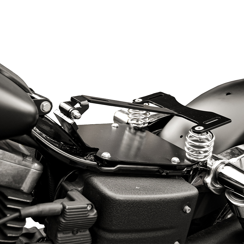 2006-up dyna motorcycles seat conversion kit - ends cuoio