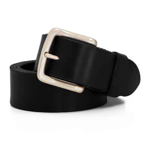 Handcrafted premium quality leather belt - Ends Cuoio Plus New Jersey black leather belt