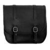 Motorcycle leather saddlebag for harley davidson street - ends cuoio big ben