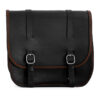 Motorcycle leather saddlebag for harley davidson street - ends cuoio big ben cta