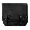 Motorcycle leather saddlebag for harley davidson street - ends cuoio big ben ctbi
