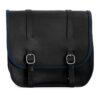 Motorcycle leather saddlebag for harley davidson street - ends cuoio big ben ctbl