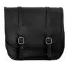 Motorcycle leather saddlebag for harley davidson street - ends cuoio big ben ctc