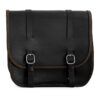 Motorcycle leather saddlebag for harley davidson street - ends cuoio big ben ctoc