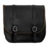 Motorcycle leather saddlebag for harley davidson street - ends cuoio big ben ctor