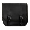 Motorcycle leather saddlebag for harley davidson street - ends cuoio big ben ctv