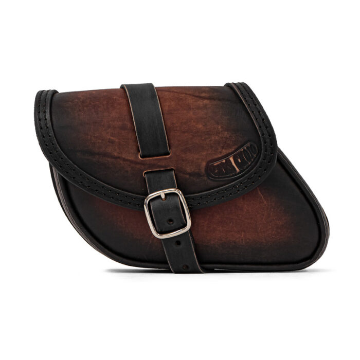 Motorcycle leather swingarm bag for Indian Scout Bobber Sixty - ends cuoio paco ttdg
