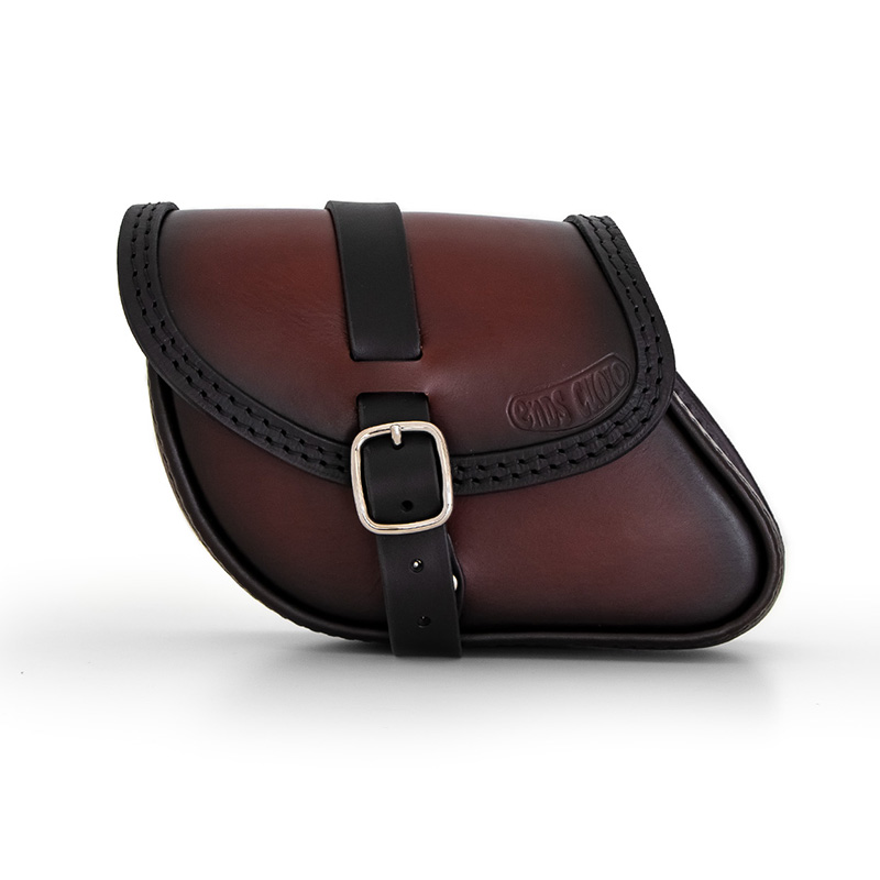 Motorcycle leather swingarm bag for indian scout sixty _ bobber - ends cuoio paco ttd
