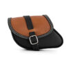 Motorcycle leather swingarm bag for indian scout sixty and bobber - ends cuoio paco bic