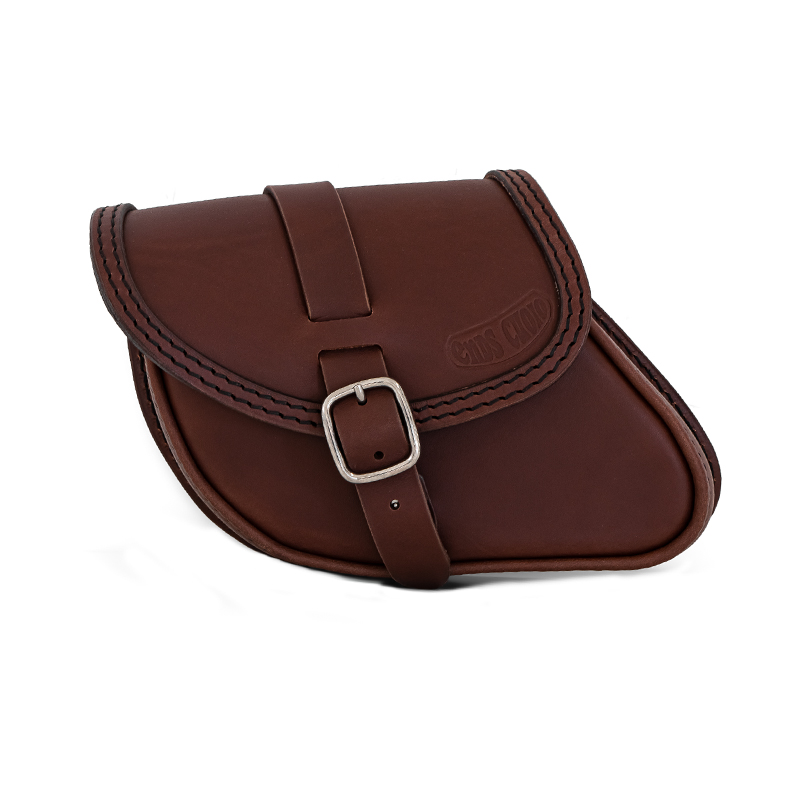 Motorcycle leather swingarm bag for indian scout sixty and bobber - ends cuoio paco tm ctn