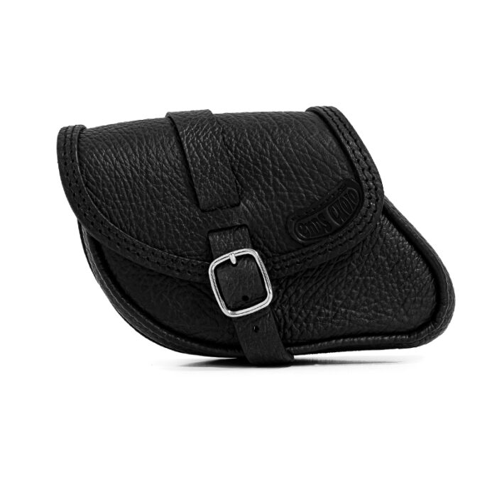 Motorcycle wrinkled leather swingarm bag for indian scout sixty and bobber - ends cuoio paco