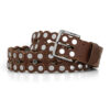 cintura in cuoio - ends cuoio plus California dark brown leather belt