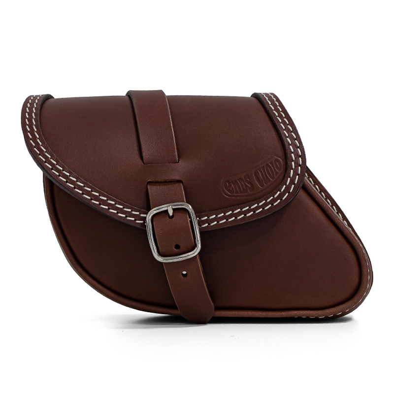 leather saddlebag for indian scout bobber - paco tm ends cuoio