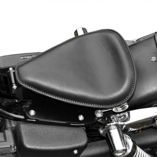 leather seat for harley davidson & indian motorcycle - ends cuoio little single