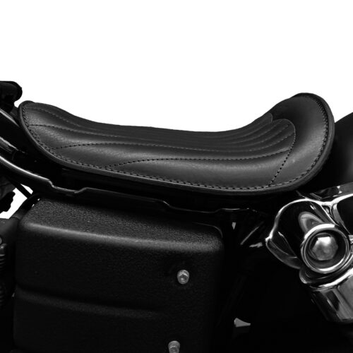leather seat fot harley davidson dyna motorcycle - dyna low trapuntata ends cuoio