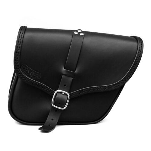 motorcycle leather bag for triumph bonneville street twin scrambler - ace dx ends cuoio