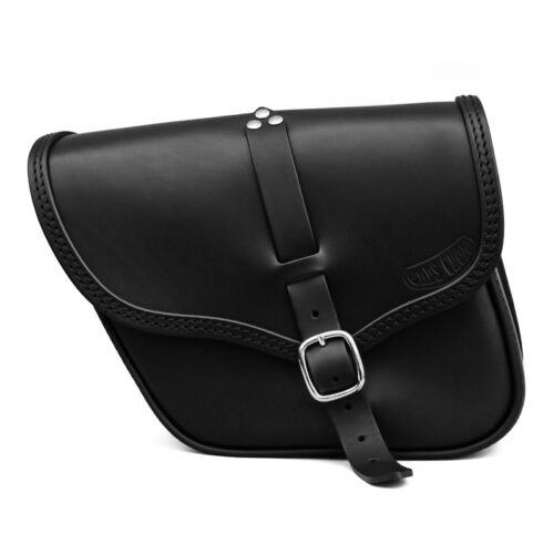 motorcycle leather bag for triumph bonneville street twin scrambler - ace ends cuoio