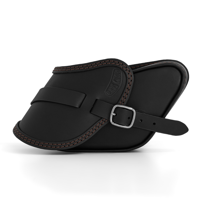 motorcycle leather saddlebag for harley davidson dyna - ends cuoio pop ctc