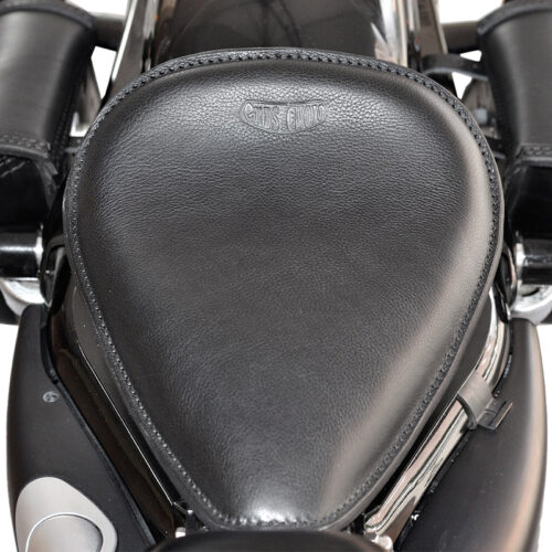motorcycle leather seat for harley davidson & indian - ends cuoio little single