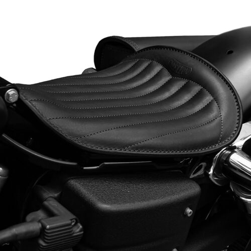 motorcycle leather seat fot harley davidson dyna - dyna low trapuntata ends cuoio