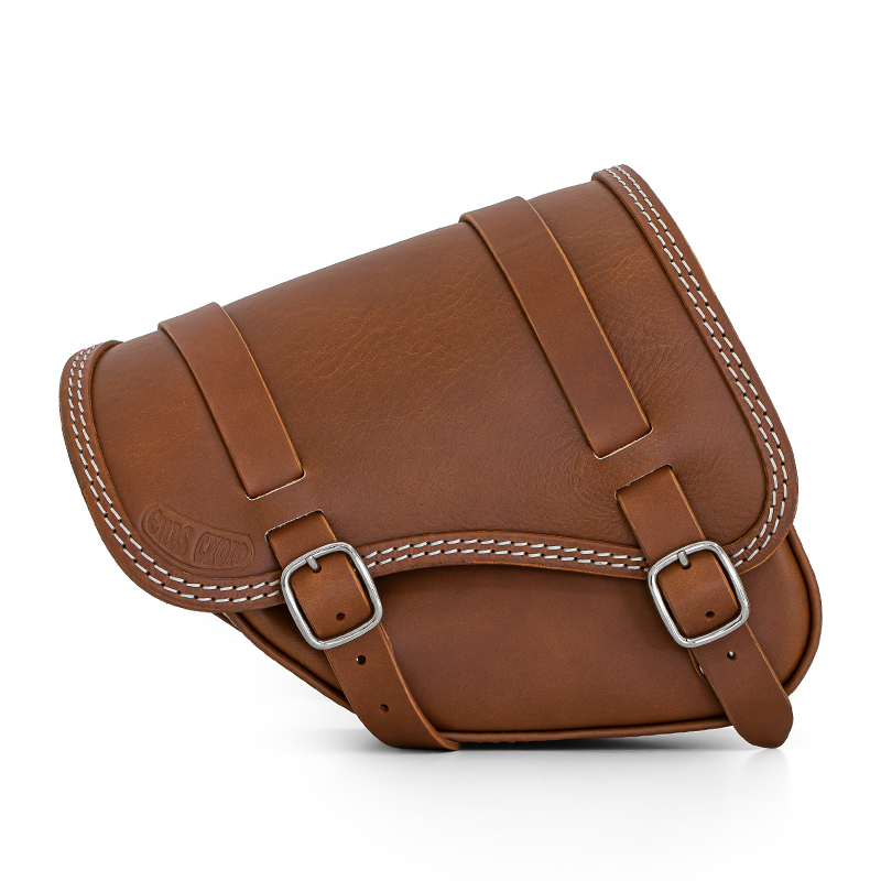 premium leather saddlebag for indian scout bobber - ends cuoio tomahawk dt