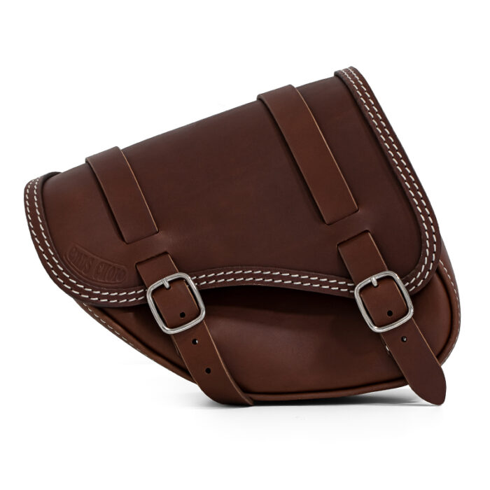 premium leather side bag for indian scout bobber sixty - ends cuoio tomahawk tm