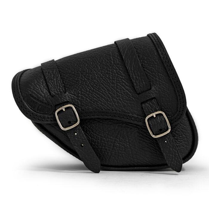 scratch-resistant leather saddle bag for indian scout sixty and bobber motorycle - ends cuoio
