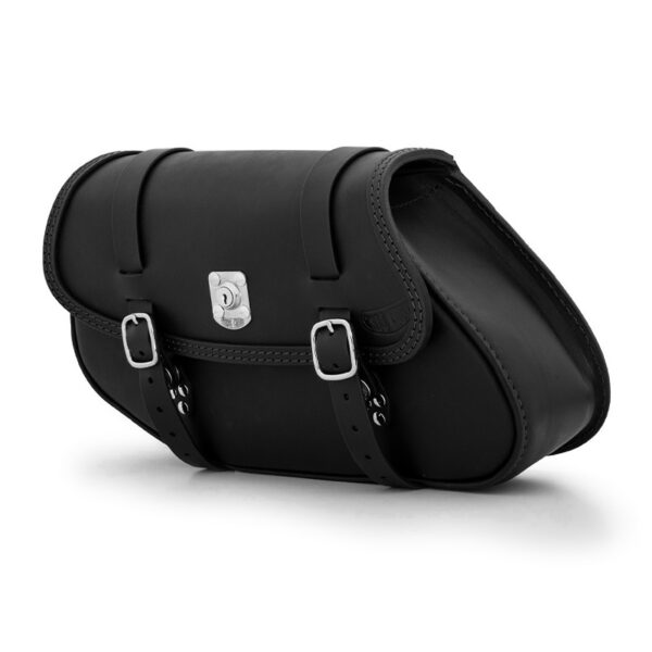 Leather saddle bag with lock for bmw r ends cuoio hamburg