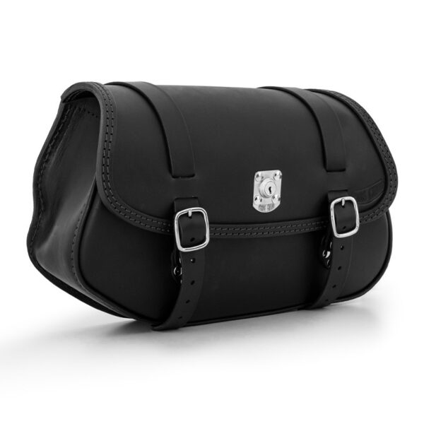 Leather saddlebag with lock for bmw r ends cuoio hamburg