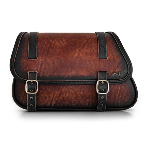 Motorcycle leather saddlebag for bmw r ends cuoio munich ttdg