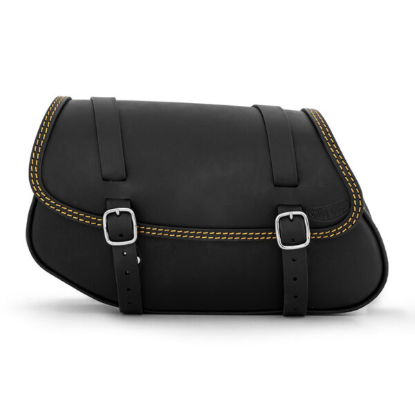 Motorcycle leather side bag for bmw r ends cuoio hamburg ctor