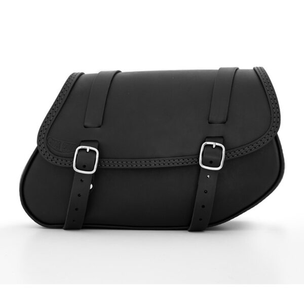 Motorcycle right side leather saddle bag for bmw r ends cuoio hamburg