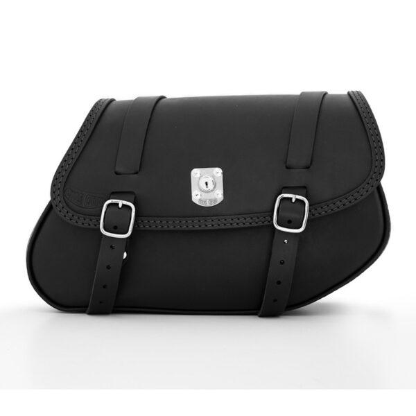 motorcycle leather saddlebag for right side bmw r ends cuoio hamburg