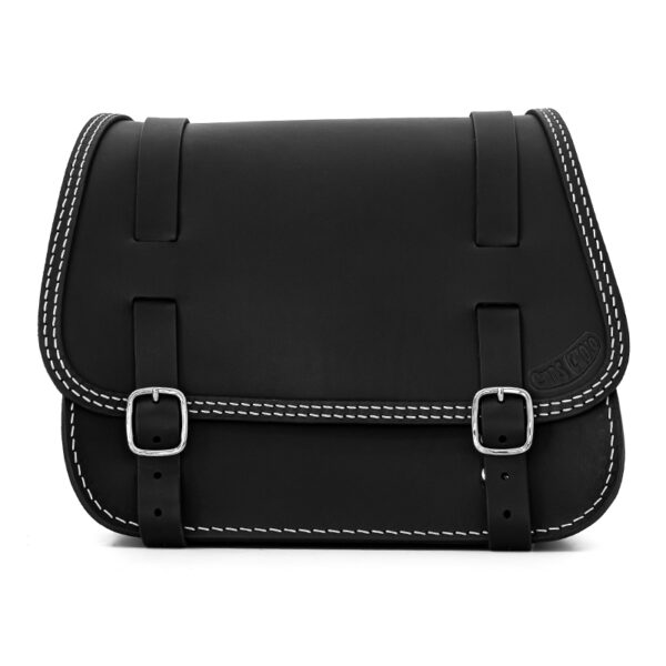 leather saddlebag for harley davidson softail motorcycles ends cuoio little glam ctbi