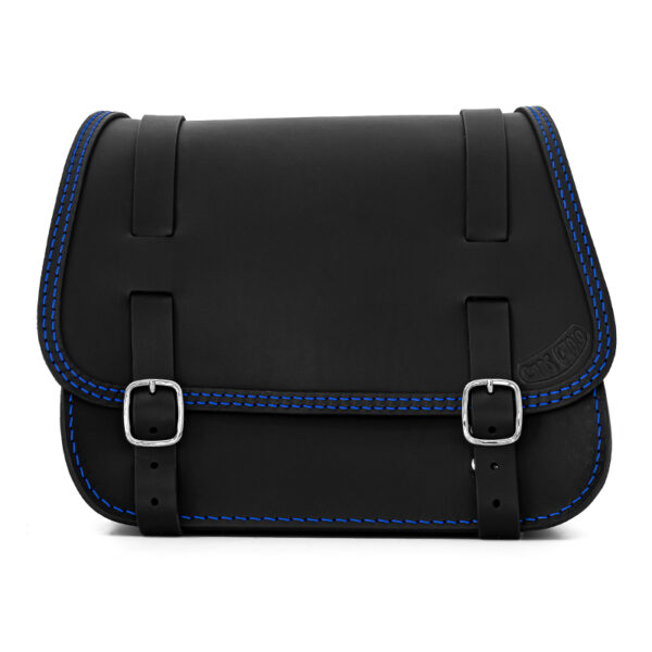 leather saddlebag for harley davidson softail motorcycles ends cuoio little glam ctbl
