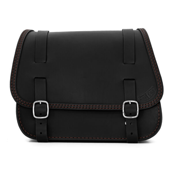 leather saddlebag for harley davidson softail motorcycles ends cuoio little glam ctc