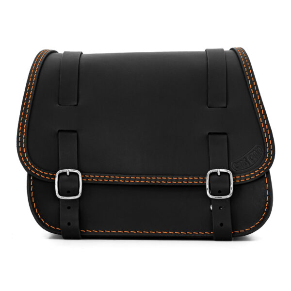leather saddlebag for harley davidson softail motorcycles ends cuoio little glam ctoc