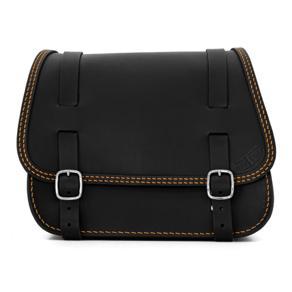 leather saddlebag for harley davidson softail motorcycles ends cuoio little glam ctor