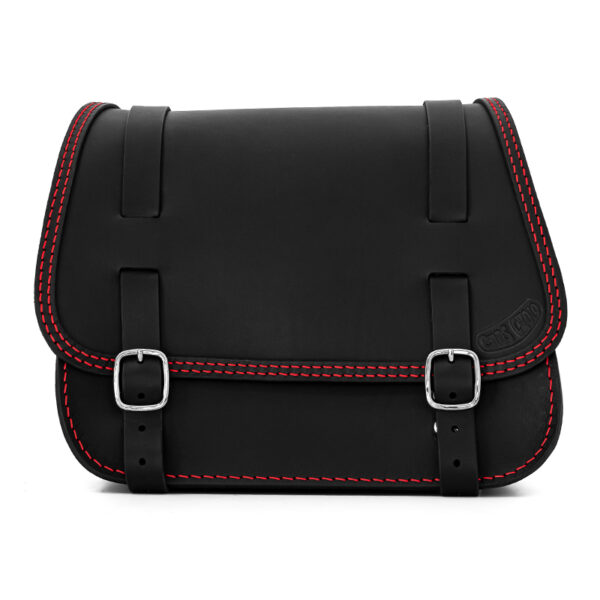 leather saddlebag for harley davidson softail motorcycles ends cuoio little glam ctr
