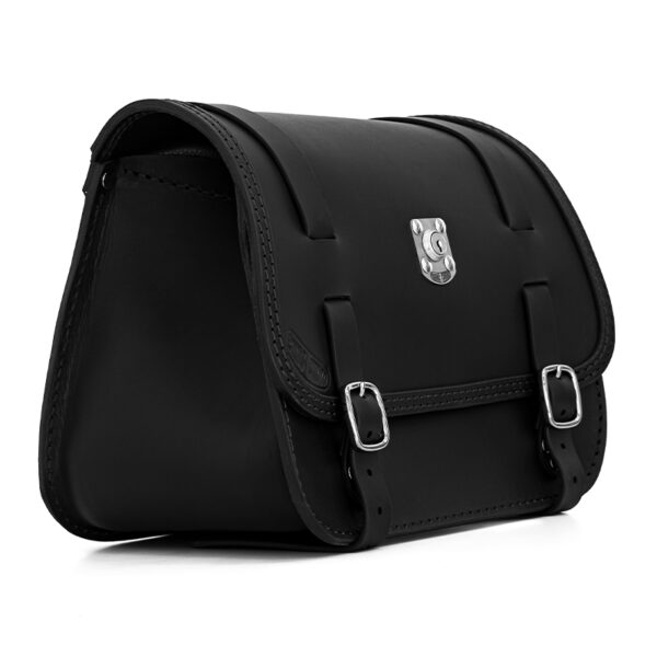 motorcycle leather saddlebag for harley davidson softail ends cuoio little glam ctn lock dx