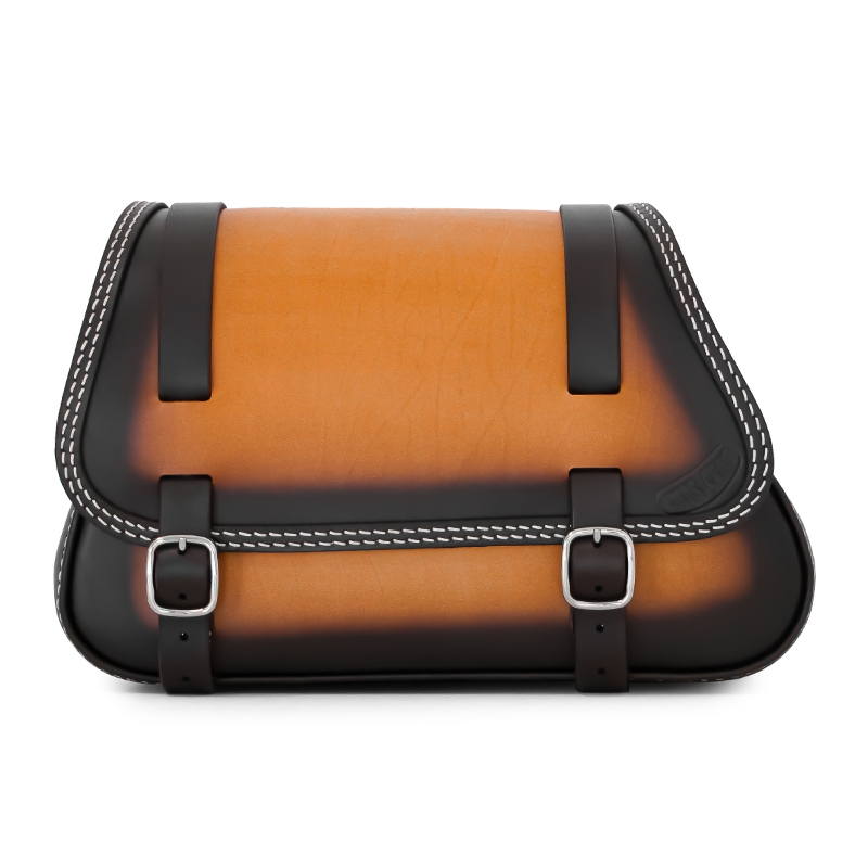 motorcycle leather saddlebag for harley davidson softail - ends cuoio folk tt