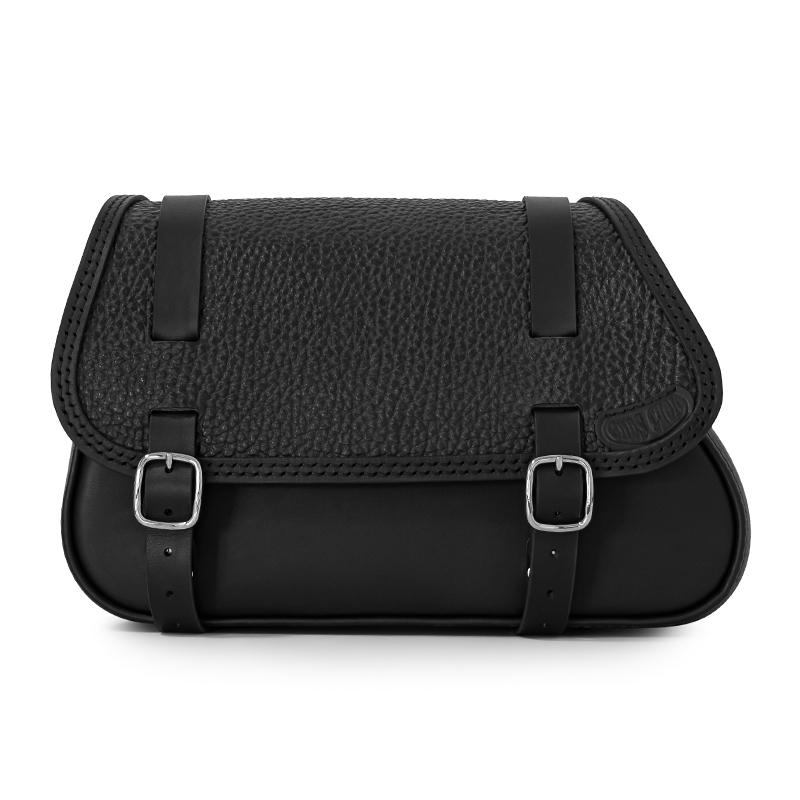 motorcycle leather saddlebag for harley davidson softail - ends cuoio folk mart